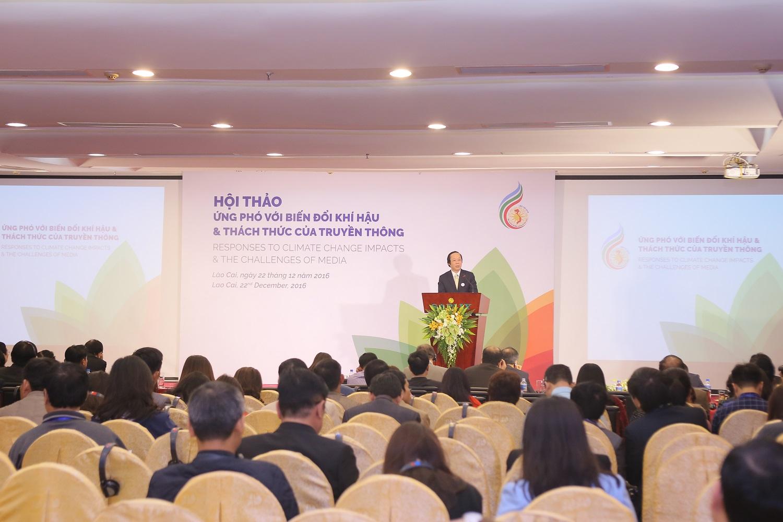 Hội thảo ứng phó với biến đổi khí hậu & Thách thức của truyền thông